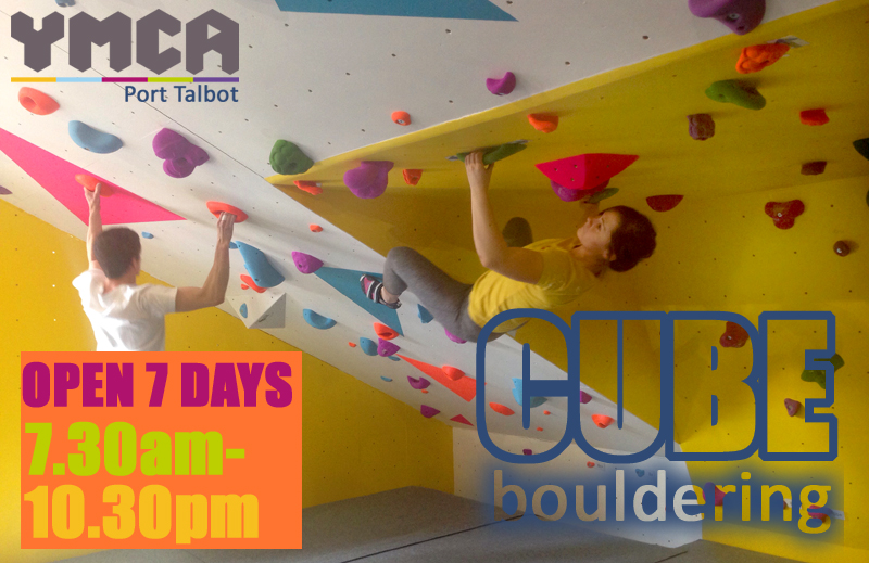 CUBE bouldering at YMCA Port Talbot