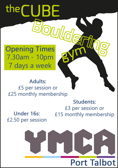 CUBE bouldering YMCA opening times